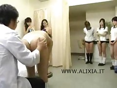 Piggy Doctor With Asian Schoolgirls