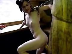 Emo Slut Fucks Giant Dildo