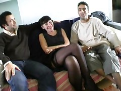 Martine French Mature In Foursome
