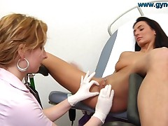 Roberta Examined By Gynecolgist
