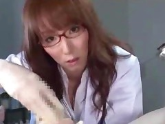 Doctor Giving Handjob For Patient Cum To Rubbed Gloves Tasting..