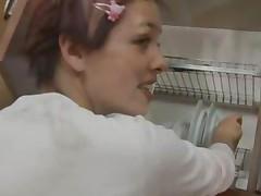 Pussy Masturbating In The Kitchen