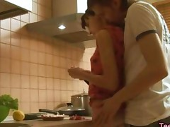 Insane Euro Kitchen Sex