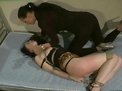 Mistress Punishing Sexy Brunette