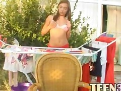 Russian Cheerleader Mary Fucks A Dildo