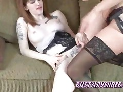 Lavender Fucks Redhead Indigo With Her Strapon