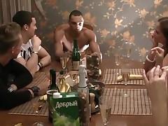Corporate Group Orgy In A Sauna