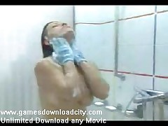 Spy Cam Beautiful Girl Under Shower