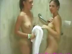 Two Lesbians Having Shower