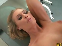 Sexy Blonde Nicole Aniston Fucking In The Gym