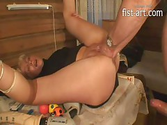 Marcella Drilling, Throat Fucking, Double Fisting And Squirting