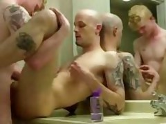 Tattooed Couple Fucking In Hotel Bathroom
