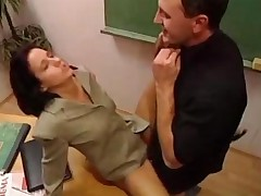 Hot Teacher Fucked In The Classroom