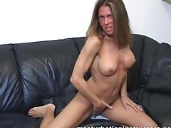 Jerk Off Teacher Exposes Her Nice Tits To Tease Horny Men