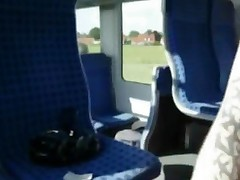 Amateur Train Blowjob And Cumshot