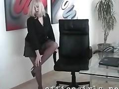 Upskirt Secretary Natasha In Pantyhose