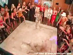 Sexy Babes In Mud Wrestling Contest
