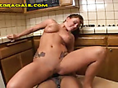 Interracial Anal with a Strap-On