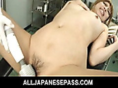 No Sound: She gets tied up to a gyno chair and a set of