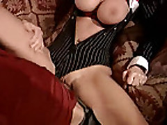 Blonde milf loves 2 cocks in her