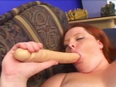 chubby redhead playing