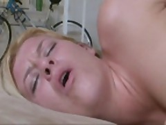 big tits wife blonde fucks monster cock