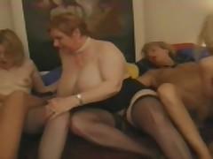 Lesbians fist orgy