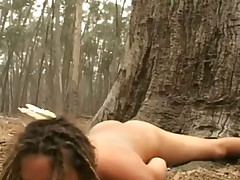 Young Hairy Hippie Masturbating