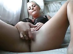 Big titty toy play and hard fuck in cunt