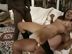 Small tit babe taking multiple dicks