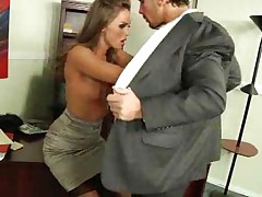 Office hottie Tori Black boned in stockings