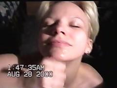 Handjob on her face