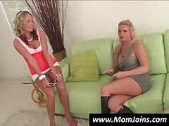 Appealing Blond Mom And Daughter Fuck A Stud