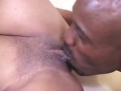 Cocksucking Black Nurse Swallows Ejaculate