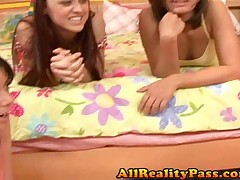 Camryn And Penny Flame And Kylee And Carlie - Lesbian Teen Hunter