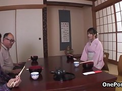 Horny Japanese Geisha Starts To Play With Her Own Innocent Pink Pussy By OnePondo