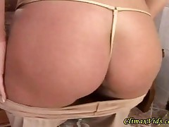 Blonde Lady Fucks The Waiter For Some Free Champagne - Part 1