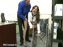 Francesca Le - This Horny Brunette With Big Tits Loves Doing Bondage In The Office