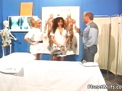 Taylor Wane - Sexy Symbol Taylor Wane And Other Busty Nurse Get Fucked By Horny Dude In Hospital By