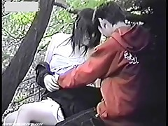 Amateur Sex Hidden Cam Catching Couples Bench Fucking
