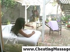 Lexi Diamond - Superb Brunette Lexi Diamond Gets Massaged At Home