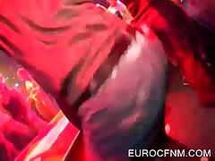 Crazy Sluts Sucking Stripper Cocks At CFNM Orgy