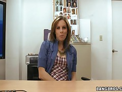 Ashlee Evans - Back Room MILF - Masturbating Milf!