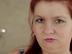 Chubby Mature Redhead Shows Big Tits And Cunt