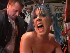 Punk rock chick fucked in public