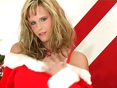Zuzana Drabinova - Zuzana Drabinova Does A Sexy Holiday Strip Tease In Lingerie
