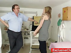 Scarlet - Perverted Gyno Doctor Checks Hot Petite Blondie And Takes Few Internal Pussy Shots With Hi