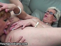 Horny Mature Wife Squirts All Over Her Girlfriends Face When She Licks Her Pussy By OldNYoungLesbian