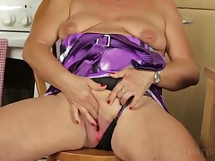 Lusty Sixty Lover Finger Fucking Jucy Horny Cunt