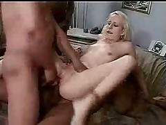 Teen blonde interracial gangbang